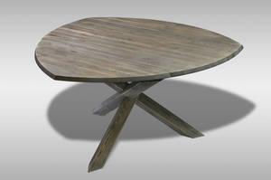 MÖRKÖ - Paket 130 cm trekantigt bord med 6 stolar