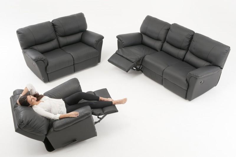 Kanon Möbelhaus & Öhmans AB - SARATOGA 3 sits soffa med 2 recliners TN-77